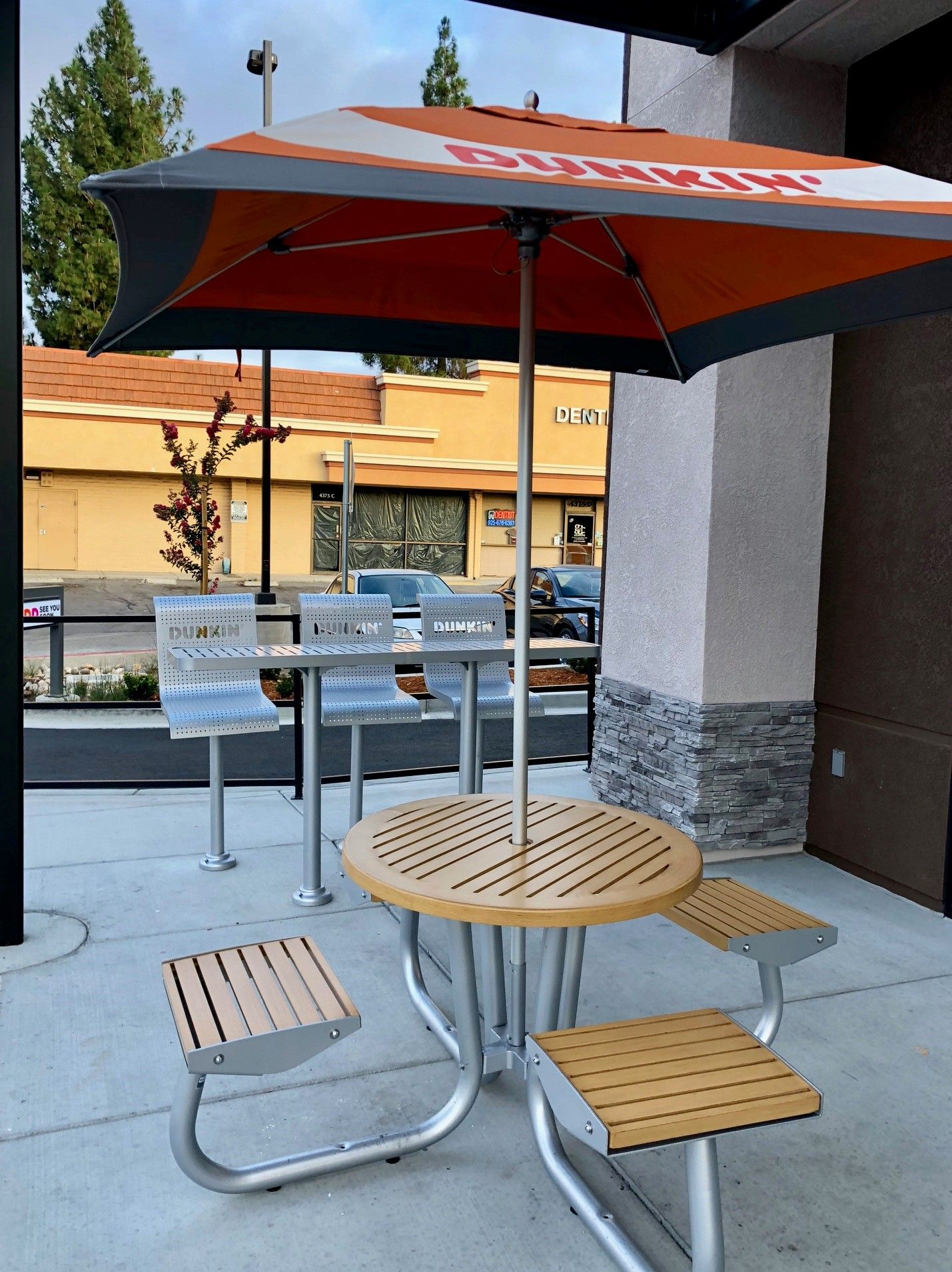 Custom outdoor dining set with four seats