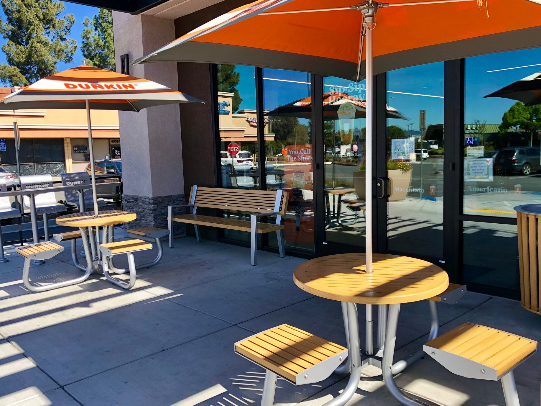 Dunkin donuts custom outdoor seating