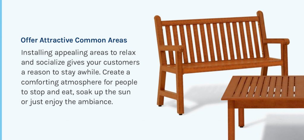 Offer Attractive Common Areas